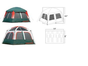 Gigatent FT 049 Prospect Rock 10 x 8 Family tent- sleeps 4-5