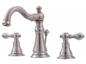 Ultra Faucets UF55113 Two-Handle Brushed Nickel Lavatory Faucet With Pop-Up Drai