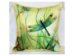 """Betsy Drake HJ187 Betsy's Dragonfly Art Only Pillow 15""""x22"""""""