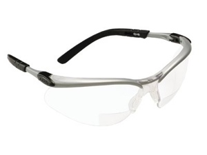AO Safety 247-11374-00000-20 Bx Reader Silver-Black Frame Clear Lens 1.5 Diop