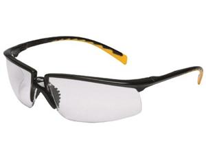 AO Safety 247-12262-00000-20 Privo Black Frame-Orangeaccent Gray Af Lens