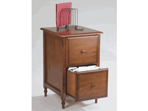 Office Star Products KH30 Knob Hill File Cabinet - Antique Cherry