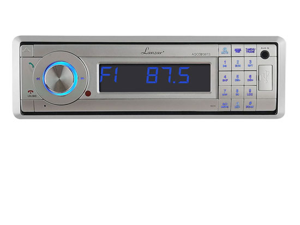 Lanzar AQMP70BTS AM-FM Marine In-Dash Fold Down Detachable Face Radio with MP3-USB-SD-AUX Input with Bluetooth Wireless Technology