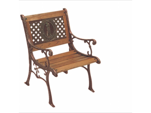 DC America SL770CO-BRMP Kingsport Arm Chair -Bronze