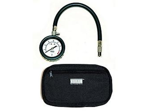 "VIAIR 90073 2.5"" Tire Gauge with Hose (0 to 100 PSI - Storage Pouch)"