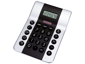 "Mitaki-Japan HHCALRS2 Mitaki-Japan 4"" Dual Powered Calculator - Silver/Black"