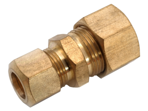 Anderson Metals 750082-0806 .5 in. X .38 in. Brass Low Lead Reducing Union