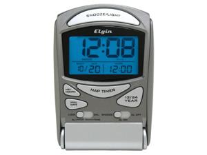 Geneva Clock Silver LED Travel Alarm Clock  3400E