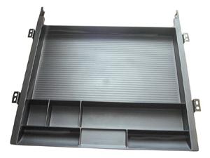 Custom Plastics Cpf 89777 Pencil Drawer Tray With Slides - Black
