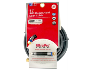 Jasco Products 25ft. RG6 Quad Shield Coax Cable  87666