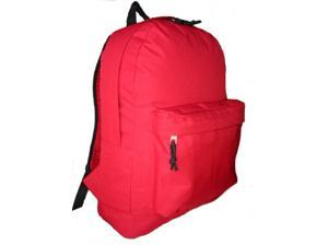 Bulk Buys Classic Backpack 18 in. x13 in. x6 in. , Red. - Case of 30