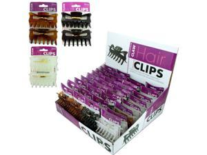 Bulk Buys Hair Claw Clip Display - Case of 36