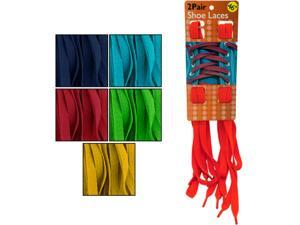 Bulk Buys Colorful Shoelaces- Assorted Colors - Pack of 10