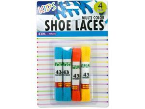 Bulk Buys Kids Colored Shoelaces - Case of 12