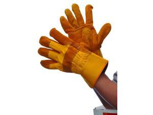 Bulk Buys Golden Yellow Joint leather Gloves - Case of 72