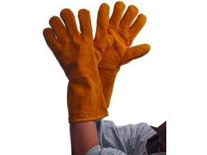 Bulk Buys Brown Leather Welding Gloves - Case of 36