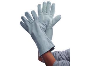 Bulk Buys Gray Leather Welding Gloves - Case of 36