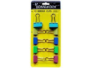 Bulk Buys Binder Clips - 10 pack 1 in. plus .75 in. - Case of 48