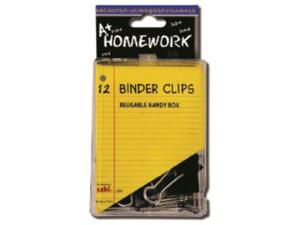 Bulk Buys Binder Clips - 12 Count - .75 in. - Case of 48