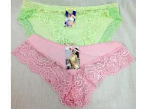 Bulk Buys Wholesale Ladys Lace Panties Assorted Colors and Sizes - Case of 144