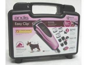 Andis 60105 Easy Clip 11 Piece Grooming Kit, Pink