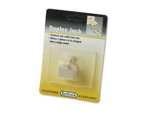 Softalk 04425 Telephone Duplex Jack- Ivory