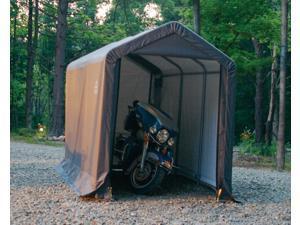 ShelterLogic 70413 6-12-8 Peak Style Storage Shed, 1-.38 in.  Frame, Grey Cover