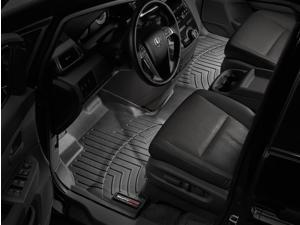 WeatherTech 443471 2011 Honda Odyssey Black 1st Row FloorLiner - Over the Hump