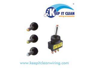 Keep It Clean SW25Y Metal Tip Led Toggle Switch - Yellow 20a/12v