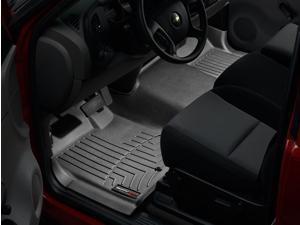 WeatherTech 443711 2007 Chevrolet Silverado Black 1st Row - Over The Hump FloorLiner