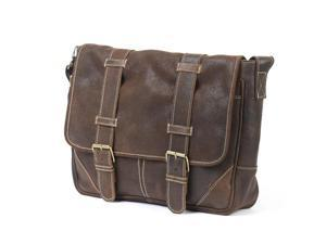 Claire Chase 163S-d.brown Sorrento Computer Messenger - Distressed Brown