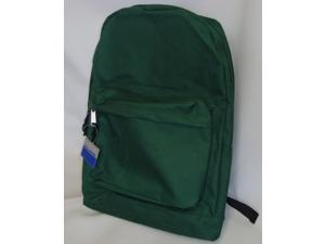 Bulk Buys Classic Backpack 18 in. x13 in. x6 in. , Green - Case of 36