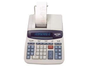 Victor 2640-2 Two-Color Printing Calculator, 12-Digit Fluorescent, Black-Red