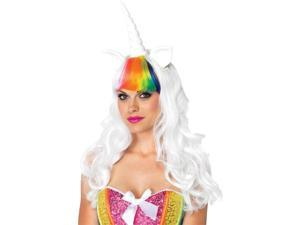 Costumes for all Occasions UA2672 Unicorn Kit Wig Tail Ad Rainbo