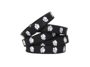 Teacher Created Resources 6570 Black with White Paw Prints Wristbands