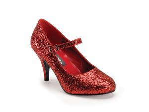Funtasma Glinda-50G Red Glittre Mary Jane Shoe 3 Inch Size 8
