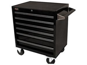 Homak BL04062601 27 Inch Professional 6 Drawer Rolling Cabinet - Black