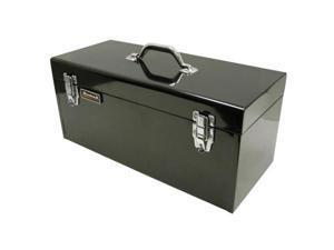 Homak BK00120920 20 Inch Black High Tool Box with Black Metal Tray