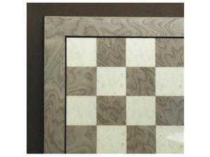 Ferrer 35340GY 13.25 in. Grey Briar-Ivory Glossy Chess Board