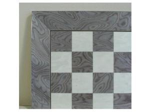 Ferrer 60550GY Glossy Wooden Chess Board - Briar Wood