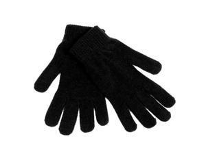 Bulk Buys Chenille Gloves - Black - Case of 144
