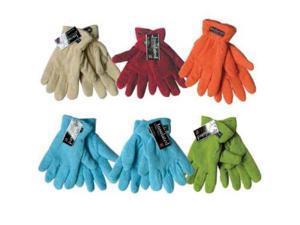 Bulk Buys Womens Fleece Gloves - Case of 144