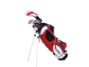 Tour Edge Golf JJSLGJ4158 JLH HT Max-J Jr 4X1 5-8 Yrs With Bag - Red - Left Hand