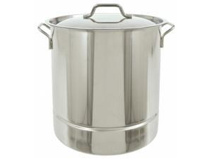 Barbour 1310 Classic 10 Gallon Stainless Steel Stockpot with Tri-Ply Bottom