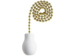 Westinghouse Lighting 7701400 White Wooden Knob Pull Chain