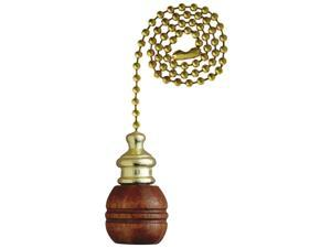 Westinghouse Lighting 7700700 Walnut Finish Sculptured Wooden Ball Pull Chain