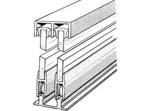 Hardware Distributors E14A4 48 in. Sliding Glass Door Track and Components