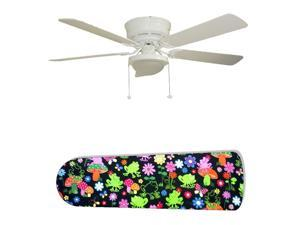 New Image Concepts 2693 52 in. Ceiling Fan with Lamp - Frog Oasis