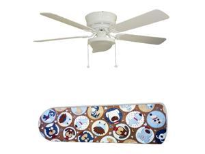 New Image Concepts 2841 52 in. Ceiling Fan with Lamp - Pooches Puppy Dog