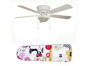 New Image Concepts 2894 52 in. Ceiling Fan with Lamp - Sewing Paradise